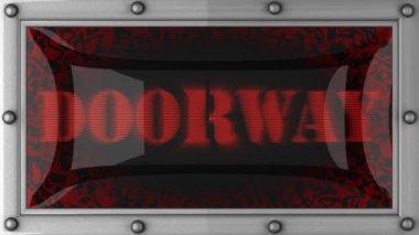 Doorway on led — Stock Video