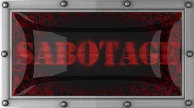 Sabotage on led — Stock Video