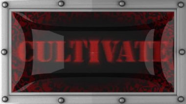 Cultivate on led — Stock Video