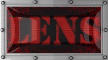 Lens on led — Stock Video