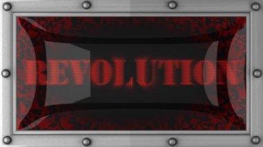 上で革命を導いた — ストックビデオ