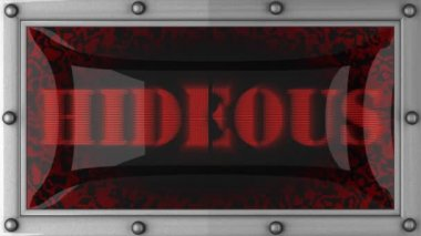 Hideous on led — Stok video