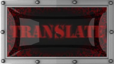 Translate on led — Video Stock