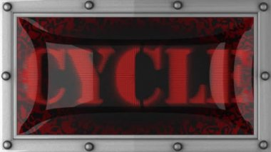 Cycle on led — Stockvideo