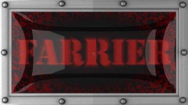 Farrier on led — Stock Video