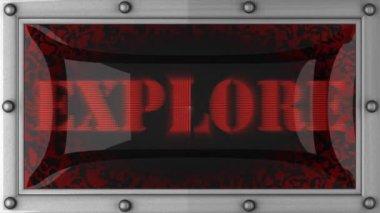 Explore on led — Stock Video