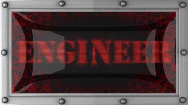 Inżynier na led — Wideo stockowe