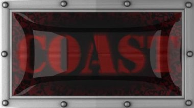 Coast on led — Stock Video
