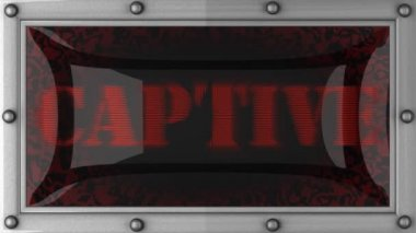 Captive on led — Stock Video