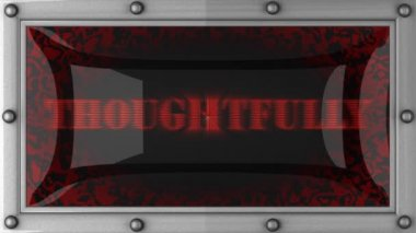 Thoughtfully on led — Stock Video