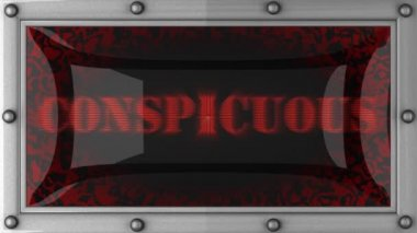 Conspicuous on led — Stock Video