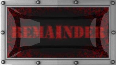 Remainder on led — Stock Video
