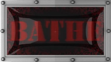 Bathe on led — Stock Video