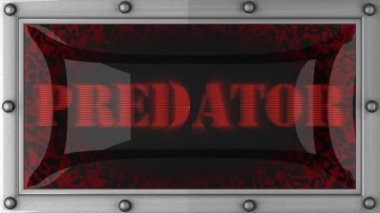 Predator on led — Stockvideo