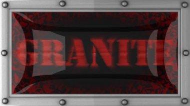 Granite on led — Stock Video