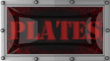 Plates on led — Video Stock