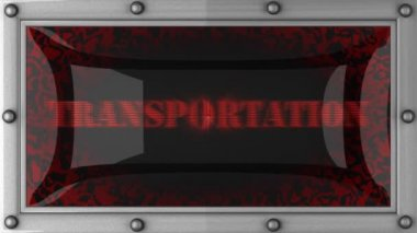 Transportation on led — Video Stock