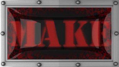 Make on led — Stock Video