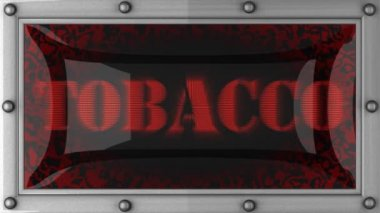 Tobacco on led — Stock Video