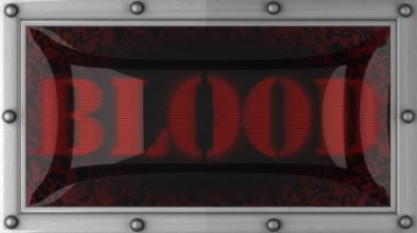 Blood on led — Stock Video