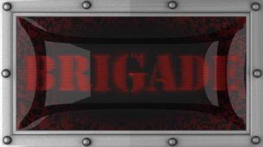 Brigade op geleid — Stockvideo
