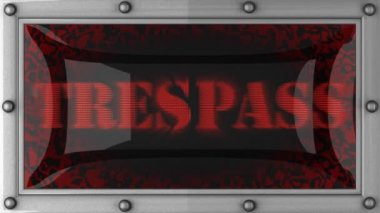Trespass on led — Stock Video