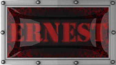 Ernest on led — Stock Video #14206145