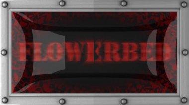 Flowerbed op geleid — Stockvideo