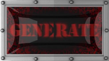 Generate on led — Stock Video