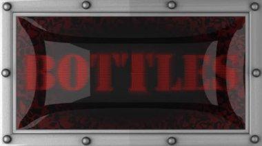 Bottles on led — Stock Video