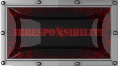 Irresponsibility on led — Stock Video