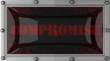 Kompromis na čele — Stock video