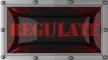 Regulate on led — Stock Video