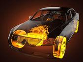 Concepto de automóvil transparente — Foto de Stock