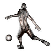 Soccer game player — Stockfoto