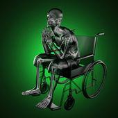 Man in wheelchair — Stock Photo