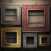 Antique ornament frame — 图库照片