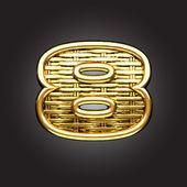 Vector golden figure — Stock Vector