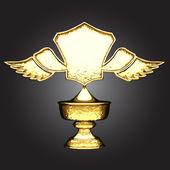 Vector golden award — Stock Vector