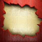 Wood on golden wall — Stock Photo