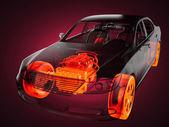 Concept de voiture transparente — Photo