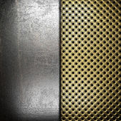 Metal on gold — Stock Photo