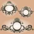 Vector vintage frames set - Stock Vector