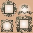 Vector vintage frames set — Stock Vector