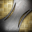 Metal on gold - Photo