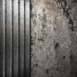 Metal on wall - Foto Stock