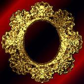 Vector golden frames set — Stock Vector