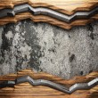 Wood on wall — Stock Photo