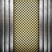 Metal on gold — Zdjęcie stockowe