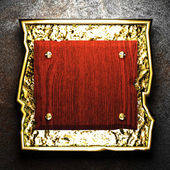 Placa de madera de pared — Foto de Stock